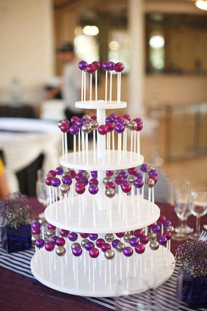 Cake Pop Wedding Display