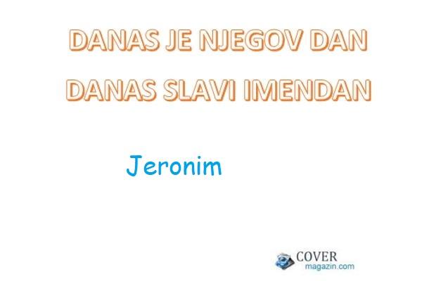 Jeronim – imendan 2021. –