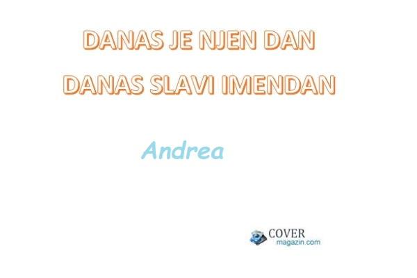 Andrea - imendan 2021. -