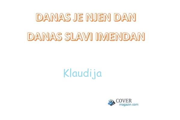 Klaudija – imendan 2021. –