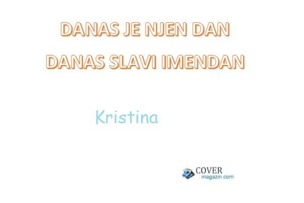 Kristina – imendan 2021. –